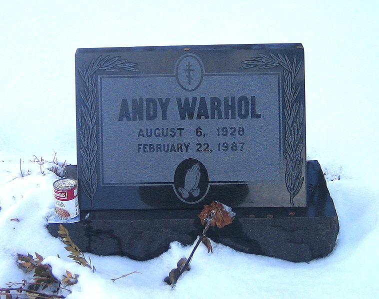 Tumba de Andy Warhol en Pensilvania