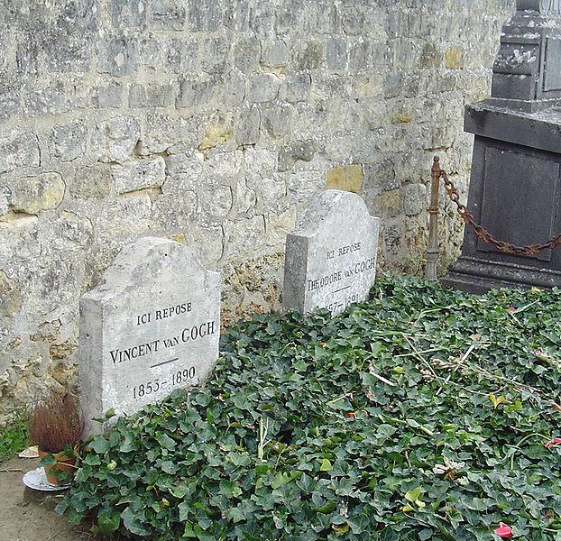 Tumba de Van Gogh en el cementerio de Auvers-sur-Oise
