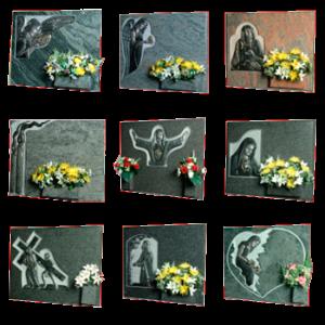 Lápidas con escultura