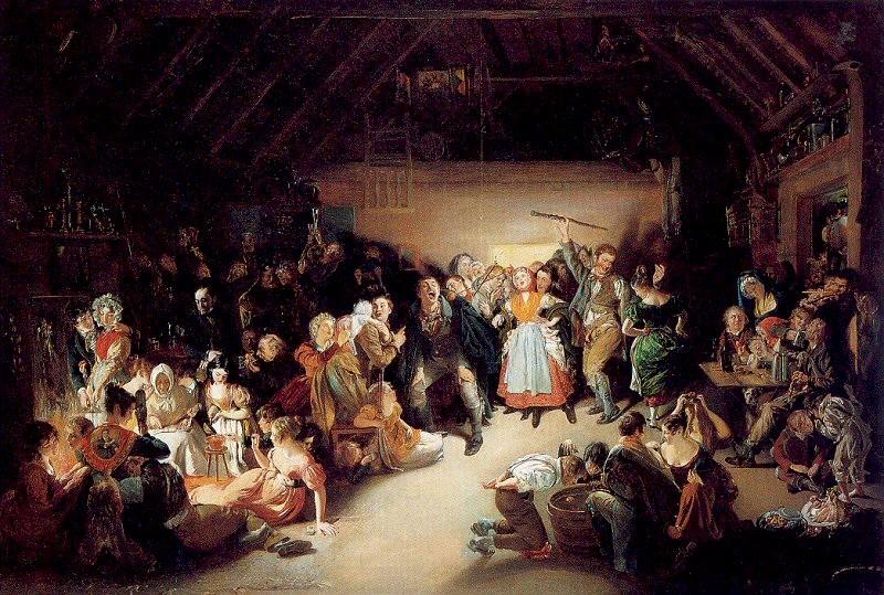 antigua celebración de Halloween del siglo XIX - Daniel Maclise