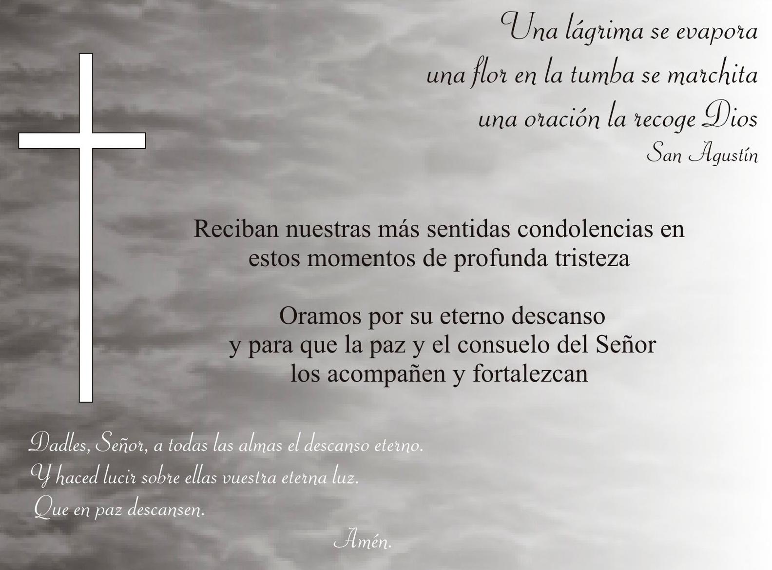 Cartas De Condolencia Lapidas Y Panteones