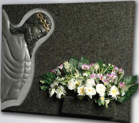 Lápida Jesús en la Cruz