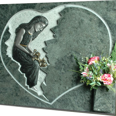 Lápida Señora Meditación