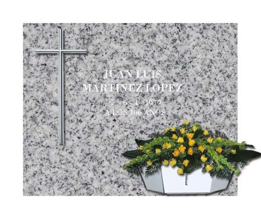 Lápida esencial Cruz y jardinera de acero nº203