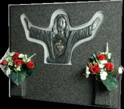 Lápida del Corazón Jesús Orando