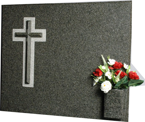 Lápida con Cruz biselada
