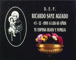 Lápida de San Antonio Abad en plata nº320