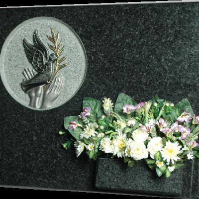 Lápida paloma de la paz