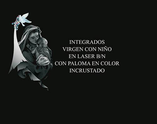 A-9 Serie 1 - Virgen con niño sobre pergamino con paloma
