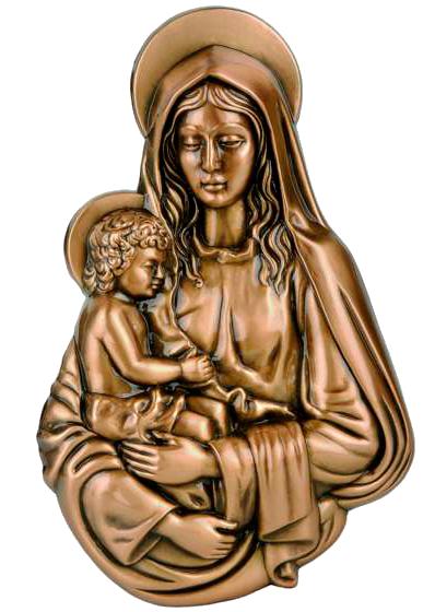 Virgen de bronce con niño Ref. 2652