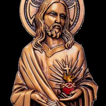Sagrado Corazón de Jesús decorado en bronce Ref. 2660DR