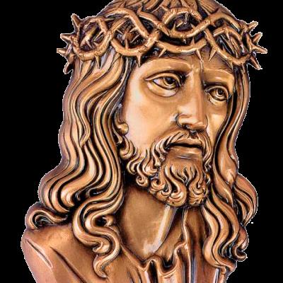 Cara de Cristo en bronce Ref. 3018
