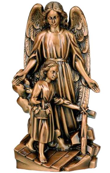 Angel de la guarda en bronce Ref. 5042