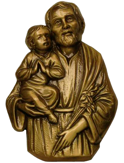 San José con el Niño en bronce Ref. 5054