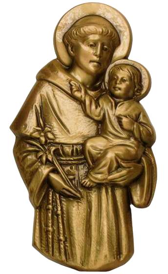 San Antonio con Niño en bronce Ref. 5077