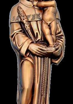 San Antonio Abad con Niño en bronce Ref. 5078