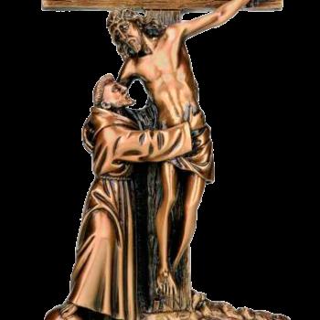 San Francisco con Cruz y Cristo de bronce Ref. 5082