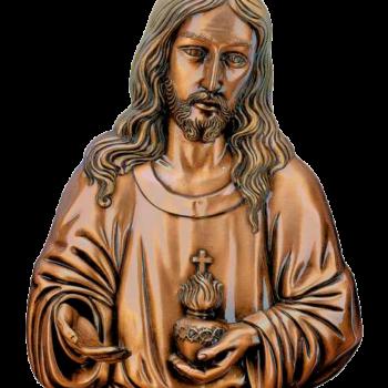 Sagrado Corazón de Jesús en bronce Ref. 5098