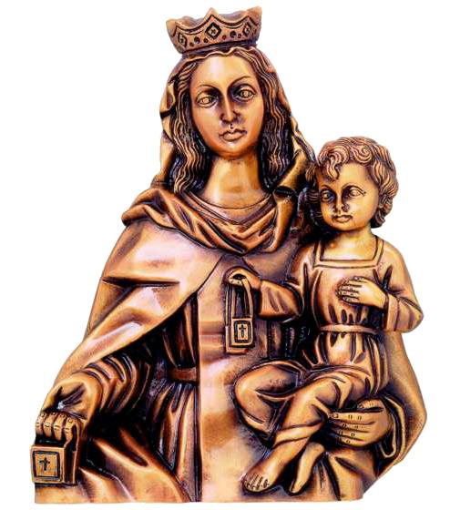Virgen del Carmen en bronce Ref. 5444