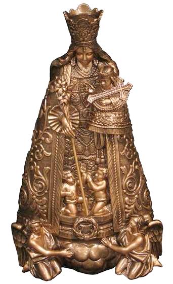 Virgen de los Desamparados en mármol sintético Ref. 6029B
