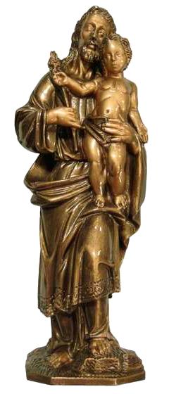 San José con el Niño de mármol sintético Ref. 6050B