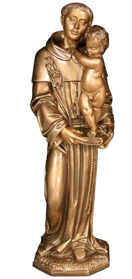 San Antonio con el Niño en mármol sintético Ref. 6078B