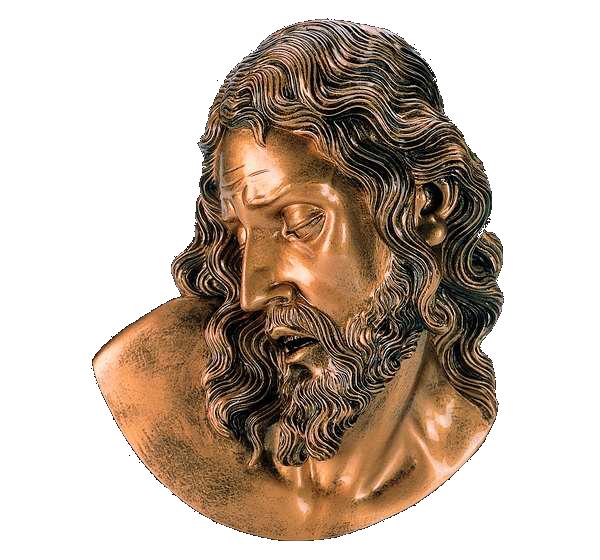 Cabeza de Cristo en mármol sintético Ref. 6156B