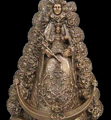 Virgen del Rocío en mármol sintético Ref.6424B