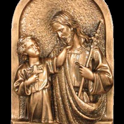 San José y el niño en mármol sintético Ref. 6734B