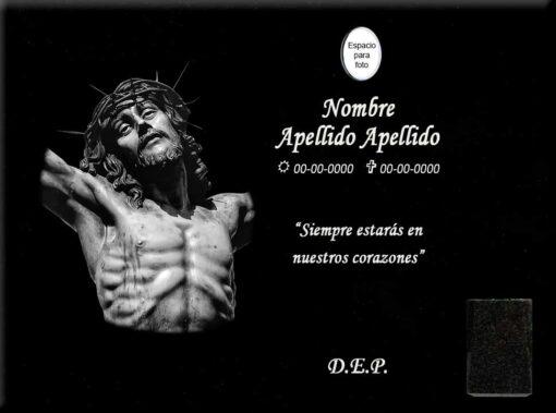 Lápida láser del Cristo de la agonía