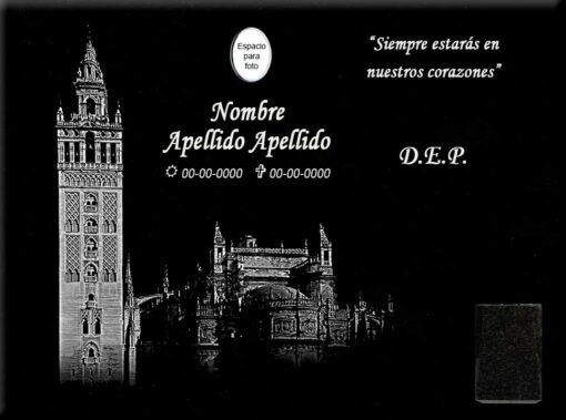 Lápida láser de la Giralda de Sevilla