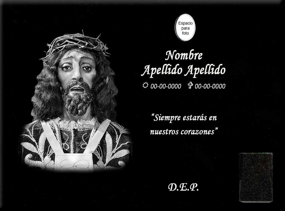 Lápida láser de Jesús de Medinaceli