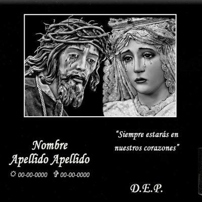 Lápida láser de Jesús Nazareno y la Dolorosa