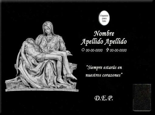 Lápida láser de la Piedad de Miguel Ángel