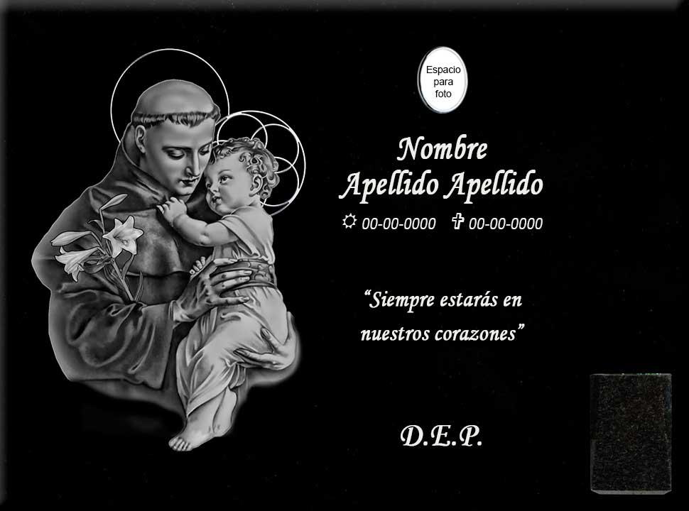 Lápida láser de San Antonio de Padua