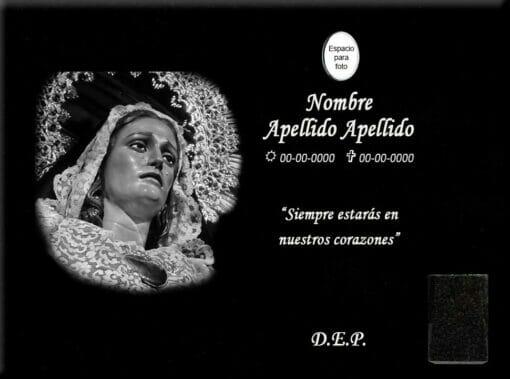Lápida láser de la Soledad de San Agustín