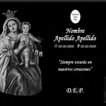 Lápida láser de la Virgen del Carmen