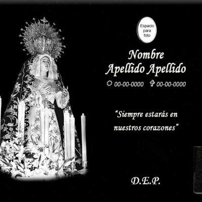 Lápida láser de la Virgen de la Esperanza entera