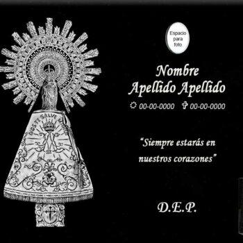 Lápida láser de la Virgen del Pilar entera