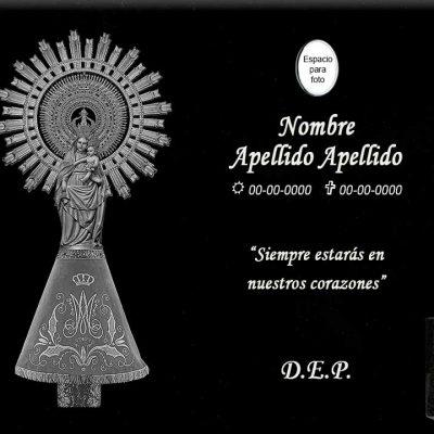 Lápida láser de la Virgen del Pilar grande