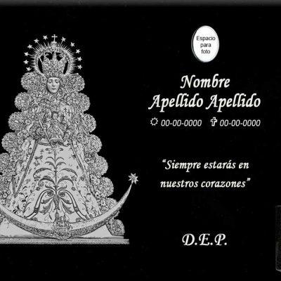 Lápida láser Virgen del Rocío grande