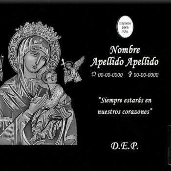 Lápida láser de la Virgen del Socorro