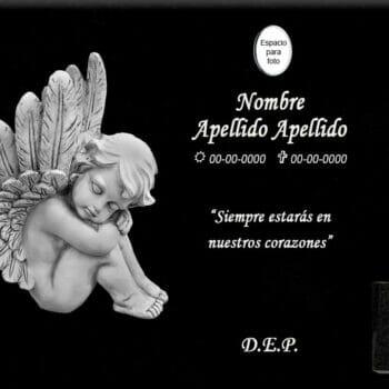 Lápida láser del Ángel Niño