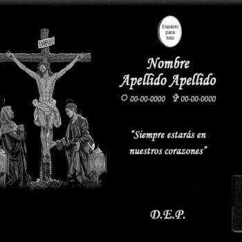 Lápida láser del Cristo de la Agonía completo