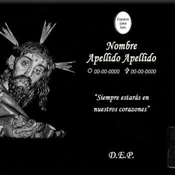 Lápida láser del Cristo de la Seis de Cuenca