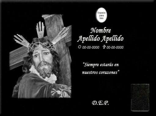 Lápida láser del Cristo de Villatobas