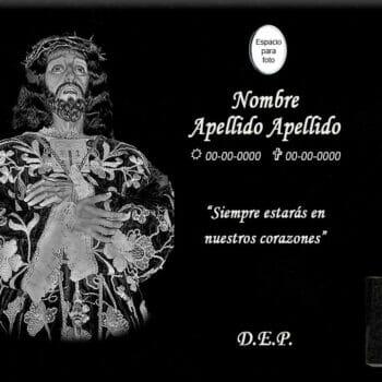 Lápida láser de Jesús de Medinaceli entero