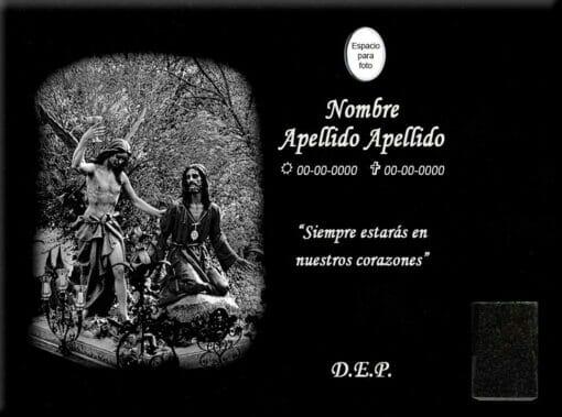 Lápida láser de la Oración en el Huerto (San Antón, Cuenca)