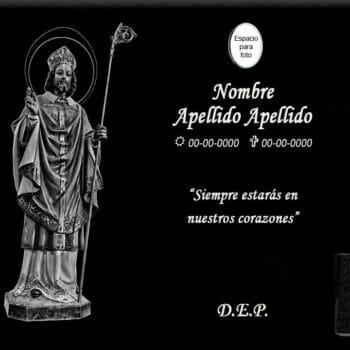 Lápida láser de San Blas de Villarejo