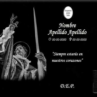 Lápida láser de San Juan Bautista con Palma